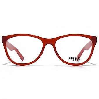 American Freshman Kacie Petite Cateye Glasses In Berry