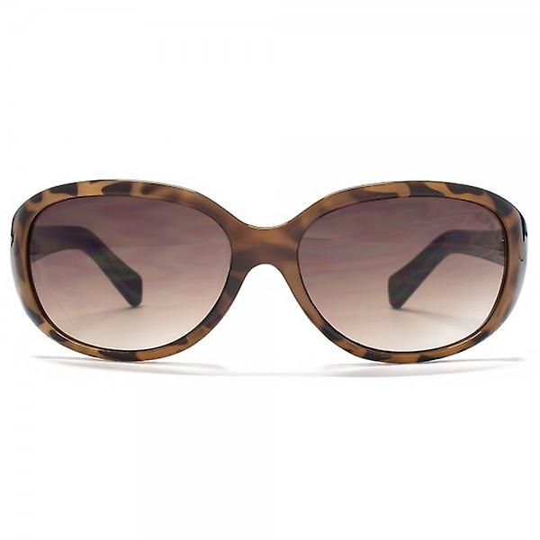 SUUNA Charlotte Small Oval Sunglasses In Honey Tortoiseshell