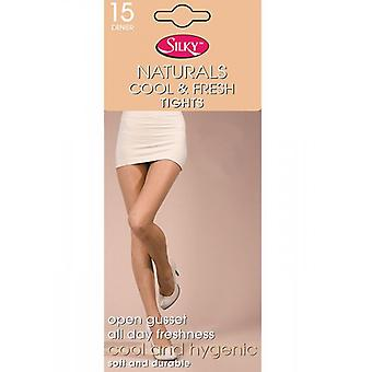 Silky Naturals Cool And Fresh Open Gusset 15 Denier Tights