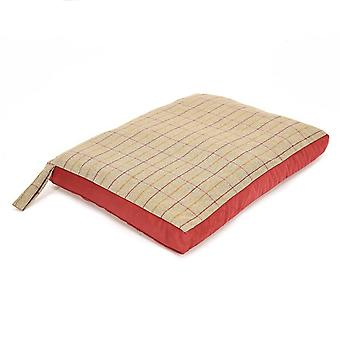 Tweedmill Tweed Home Dog Bed With Suede Base - 925/Red