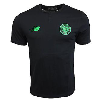 2017-2018 Celtic Media Training Cotton Tee (Black)