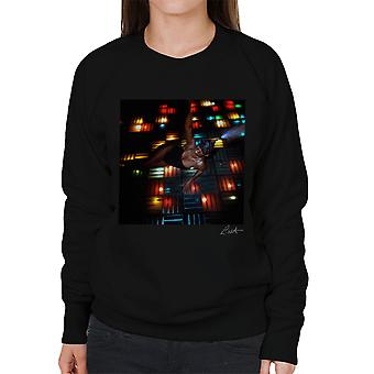 Grace Jones Disco Lichter Foto-Shooting 2008 Damen Sweatshirt