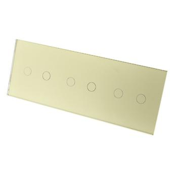 I LumoS Luxury Gold Crystal Glass Panel Touch Controlled LED Light Switches