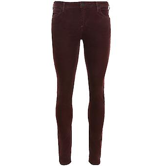 Lee Malone skinny pants men's corduroy trousers red L736FDIW