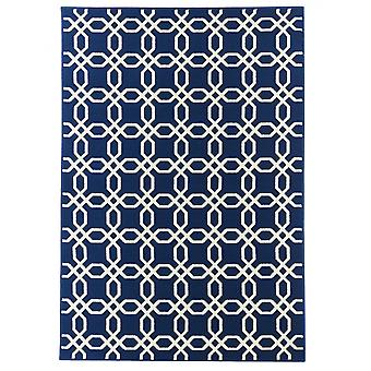 In - and outdoor carpet balcony / living room coastal living blue nature 133 x 190 cm