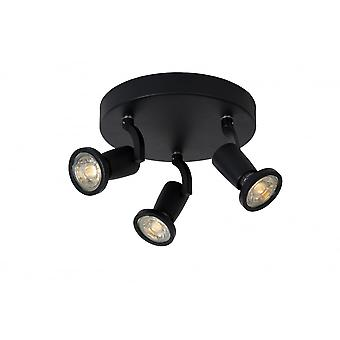 JASTER Lucide LED Spot 3xGU10/5W Incl 320LM negro