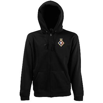 HMS Southampton Embroidered Logo - Official Royal Navy Zipped Hoodie Jacket