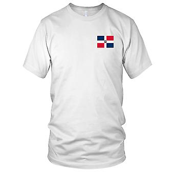 Dominikanske Republik land nationale Flag - broderet Logo - 100% bomuld T-Shirt børn T Shirt