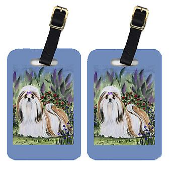 Carolines Treasures  SS8034BT Pair of 2 Shih Tzu Luggage Tags