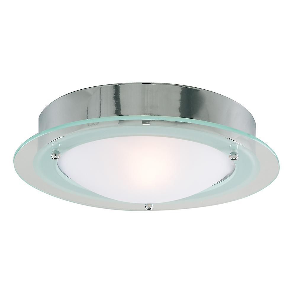 Searchlight 3108CC Chrome Flush 30cm Bathroom Light I.P44