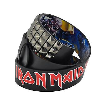 Lowlife Iron Maiden Cover Stud Leather Belt