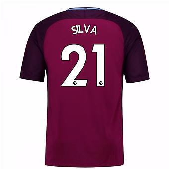 2017-18 Manchester City Auswärtstrikot (Silva 21) - Kinder