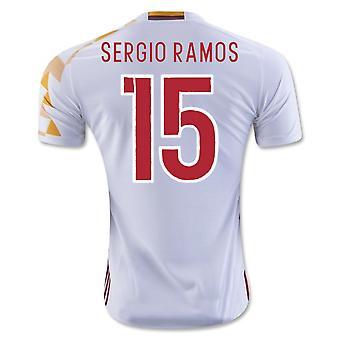 2016-2017 Spain Adidas Away Shirt (Sergio Ramos 15) - Kids