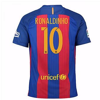 2016 / 17 gesponsert Barcelona Heimtrikot (Ronaldinho 10) - Kinder
