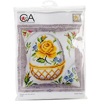 Collection D'Art Stamped Needlepoint Cushion Kit 40X40cm-Easter Feast CD5266