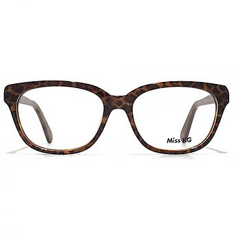 Miss KG Soft Rectangle Glasses In Leopard Print