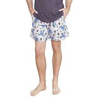Cyberjammies 6199 Men's Drake Grey Motif Pajama Short