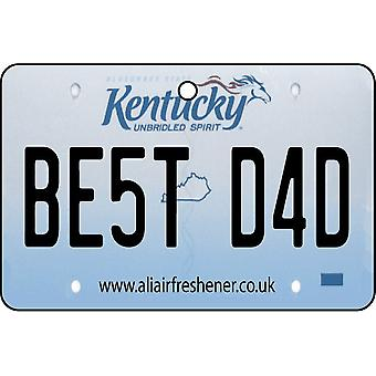 Kentucky - Best Dad License Plate Car Air Freshener