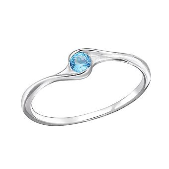 Curve - 925 Sterling Silver Cubic Zirconia Rings