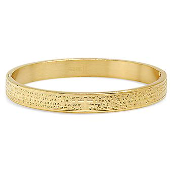 Ladies 18K Gold Plated Lord'S Prayer Bracelet In English
