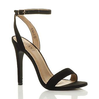 Ajvani womens high heel platform ankle strap barely there strappy sandals shoes