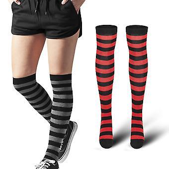 السيدات الكلاسيكية الحضرية-فخذ مخططة عالية جوارب الركبة أعلى مستوياتها