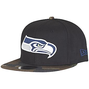 New Era Snapback Cap - WOOD CAMO Seattle Seahawks