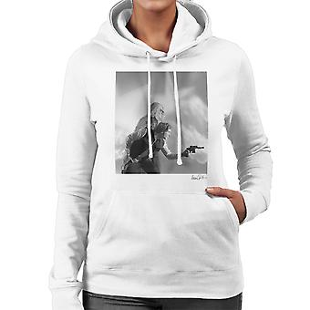 Star Wars Behind The Scenes Chewbacca And Han Solo White Women's Hooded Sweatshirt