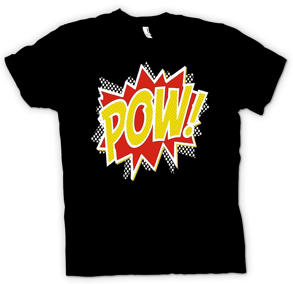 Womens T-shirt - Pow - Comic Funny