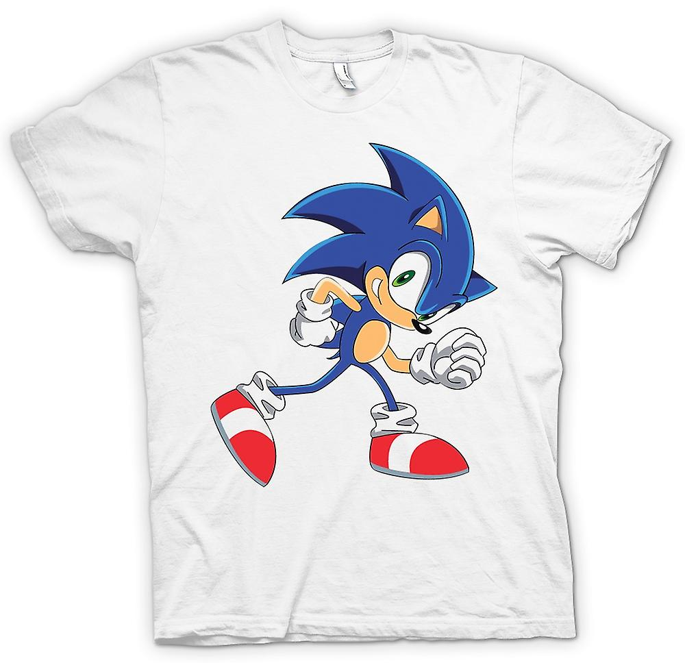 Hommes T-shirt - Run Run Sonic - Sonic The hegehog