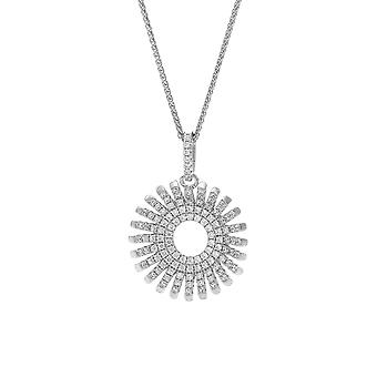 Orphelia Silver 925 Chain With Pendant Circle With Lines With Zirconium  ZH-7299