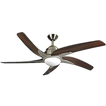 Ceiling fan Viper Plus Brass / Oak with LED 137 cm / 54
