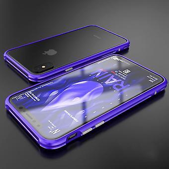 Premium metal shock bumper purple for Apple iPhone X 10 pouch cover case new