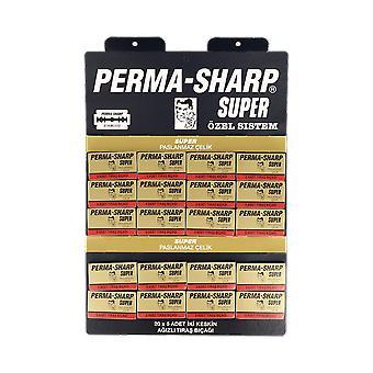 Perma-Sharp Super dubbel kant rakblad (100 blad)
