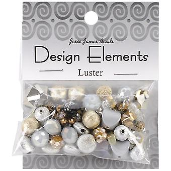 Design Elements Beads 28g-Luster
