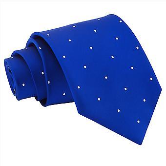 Royal Blue Pin Dot Classic Tie