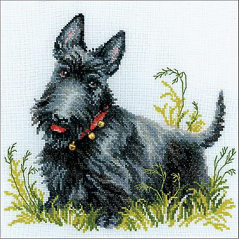 Scottish Terrier Counted Cross Stitch Kit-10
