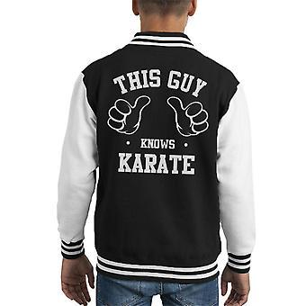 Deze kerel weet Karate Kid's Varsity Jacket