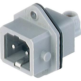 Mains connector STASEI Series (mains connectors) STASEI Plug, vertical mount Total number of pins: 2 + PE 16 A Grey Hirschmann STASEI 2 1 pc(s)