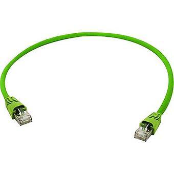 Telegärtner RJ45 Networks Cable CAT 5 SF/UTP 1 m Yellow-green