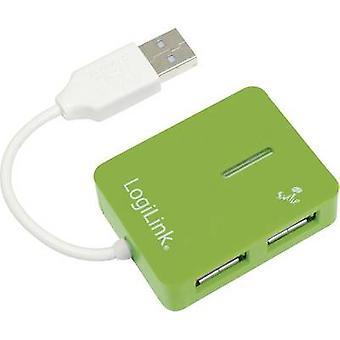 Hub de puertos USB 2.0 LogiLink UA0138 4 verde
