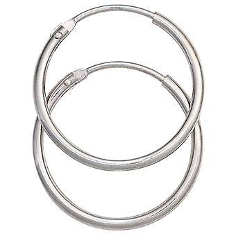 Серьги круглые кольца уха шины 585 белое золото золото Золотые серьги 20 мм