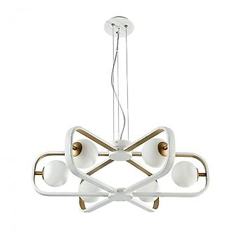 Maytoni Lighting Avola Modern Chandelier , White + Gold