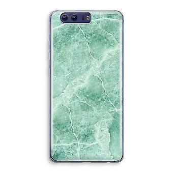 Honor 9 Transparant Case (Soft) - Green marble