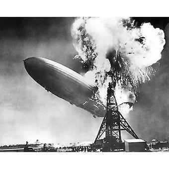 Hindenburg Katastrophe Lakehurst NJ 6. Mai 1937 Poster Print von McMahan Foto-Archiv (10 x 8)