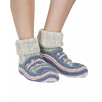 Finisterre warm lined handmade wool sofa socks in violet | Pachamama