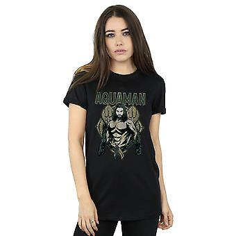 DC Comics Frauen Aquaman Skalen Freund Fit T-Shirt