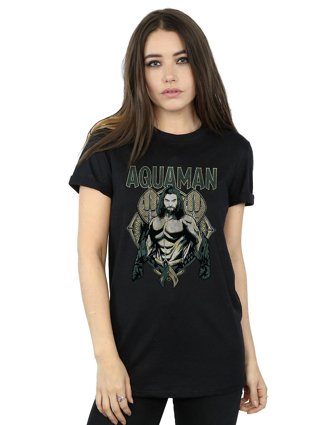 DC Comics Women's Aquaman Scales Boyfriend Fit T-Shirt