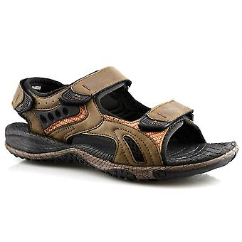 Mens 3 Touch Fastening Synthetic Nubuck Sports Sandals Shoes