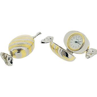 Regalo productos dulces miniatura reloj - plata/oro